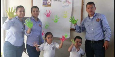 Campaña cuidado de manos en Cootranserp